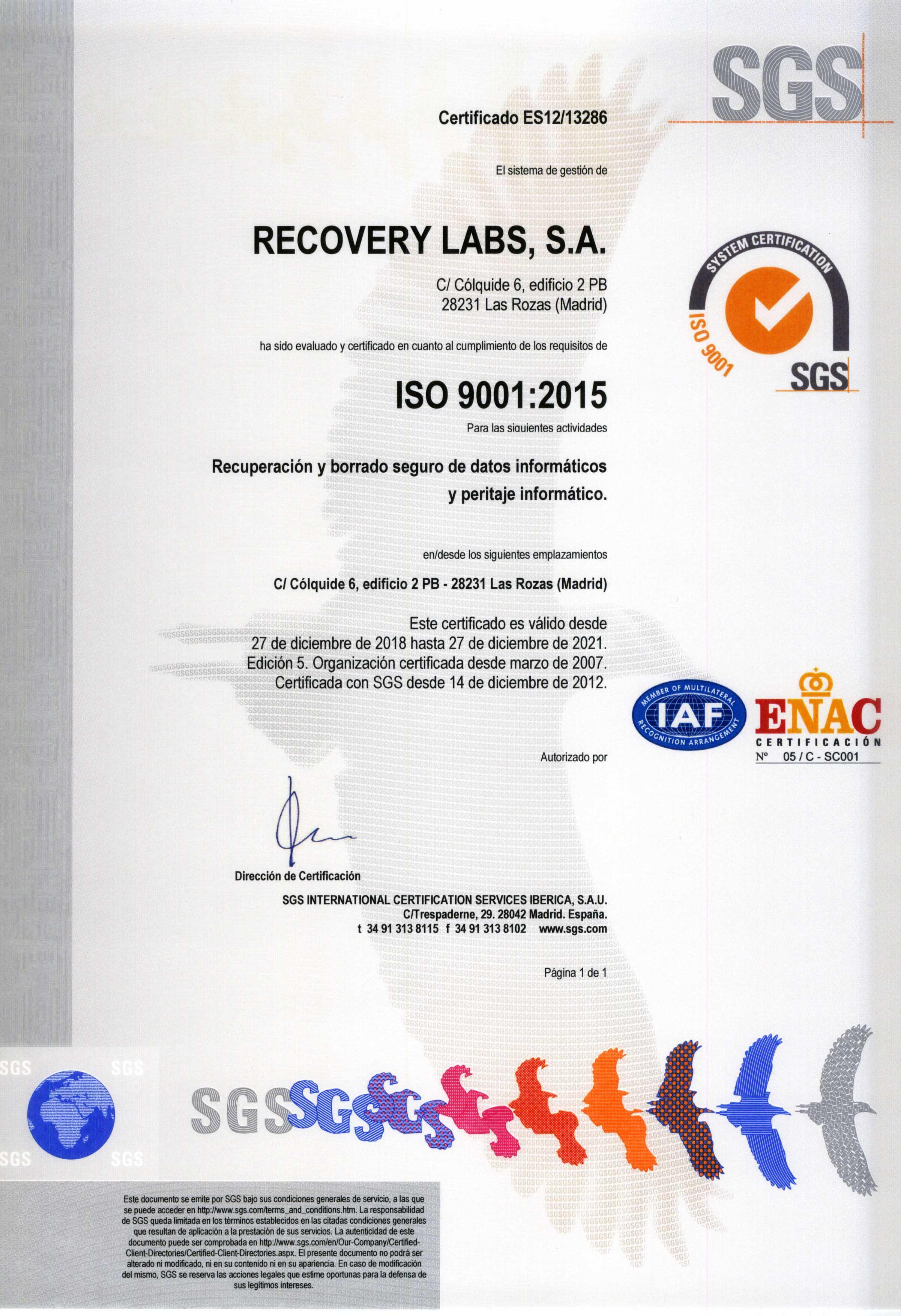 ISO recuperacion de datos de disco duro